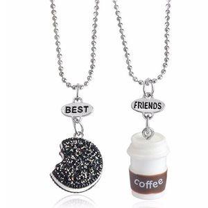 Best friends necklace Oreo coffee 2 piece set NEW